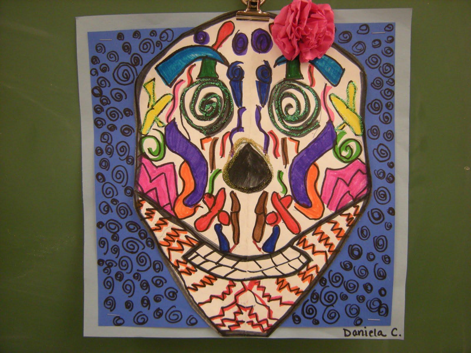 Classroom Design For Grade 2 ~ What s happening in the art room symmetry skulls th grade