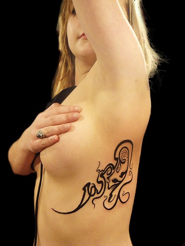 Side Tribal Tattoo For Women