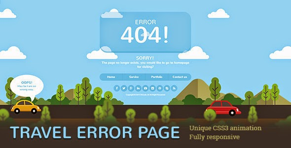 Travel 404 Error Page