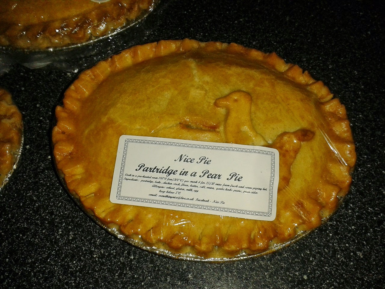 Partridge in a pear pie review