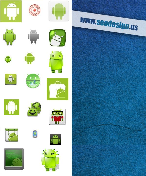67 Free PNG Android Icons Set Pack Download