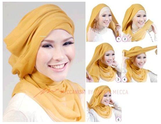 Tutorial Cara Pakai Hijab Modern Ala Zaskia Adya Mecca