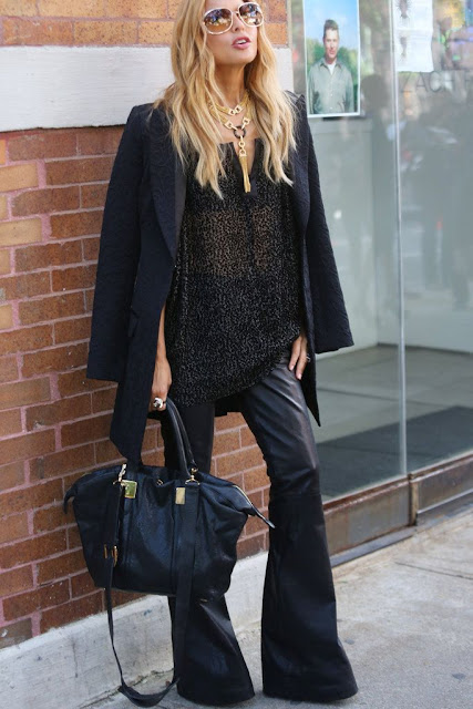 Rachel Zoe black flared pants