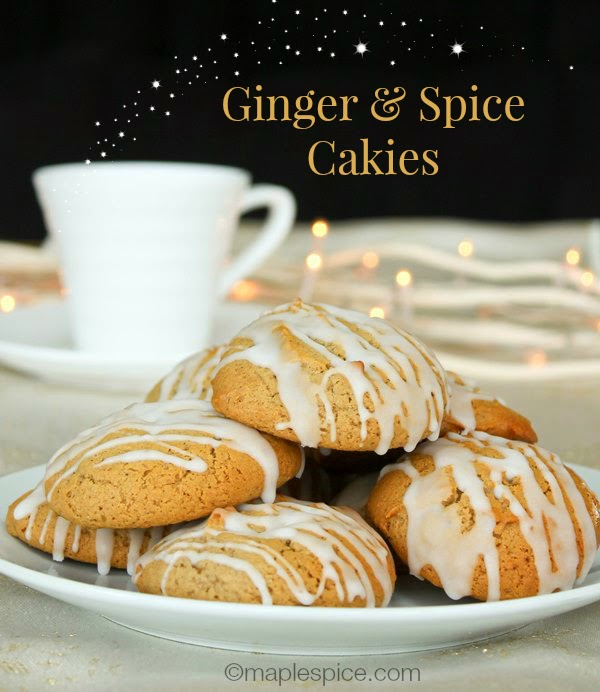 "Vegan Ginger & Spice ""Cakies"" - soft cake like cookies"
