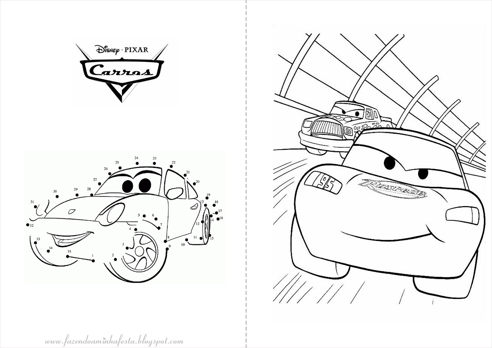 imagens para colorir e imprimir de carros - Desenhos Carros 2 para Imprimir e Colorir Educação Infantil