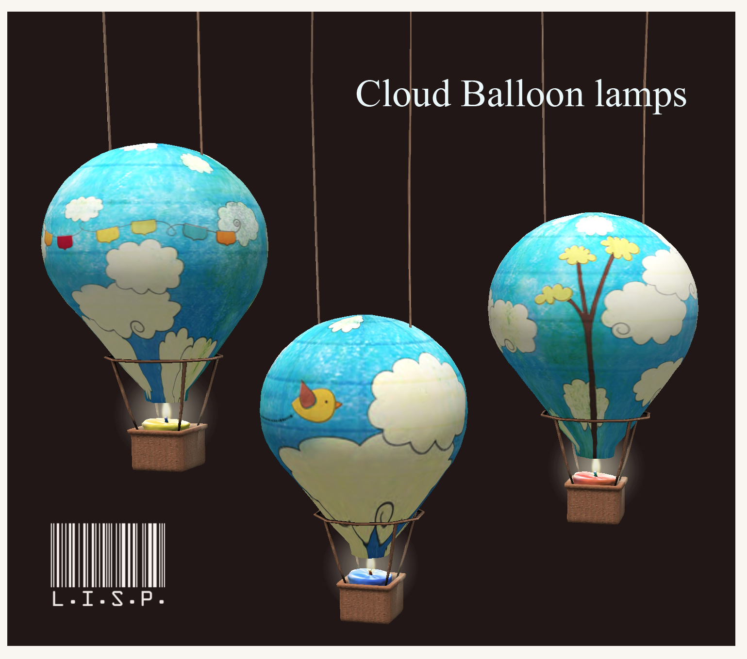 l i s p bazaar hot air balloon lamps lisp bazaar. Black Bedroom Furniture Sets. Home Design Ideas