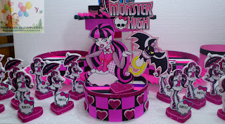 Adorno Torta Monster High Draculaura