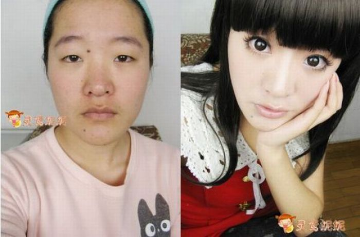 chinese girl before and after makeup 42 jpgUlzzang Transformation Before And After