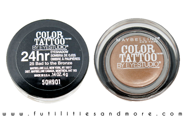 Maybelline Color Tattoo - Bad To The Bronze - Review and Swatch