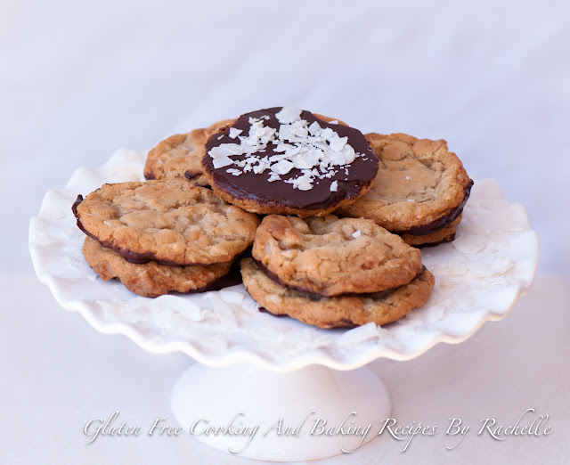 Gluten Free/Dairy Free Coconut Cookies Dipped In Chocolate