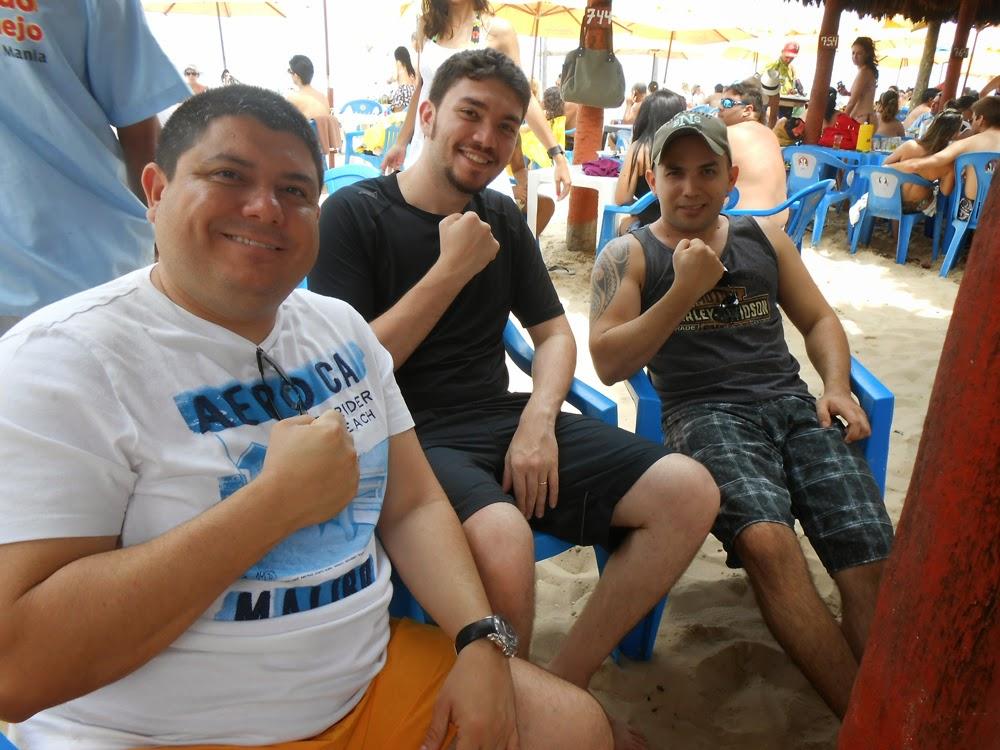 Osmar, Edinho e Roberto. Sly Squad reunido em Fortaleza!