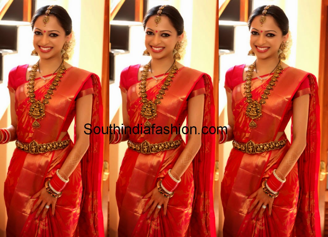 pretty bride in bridal saree