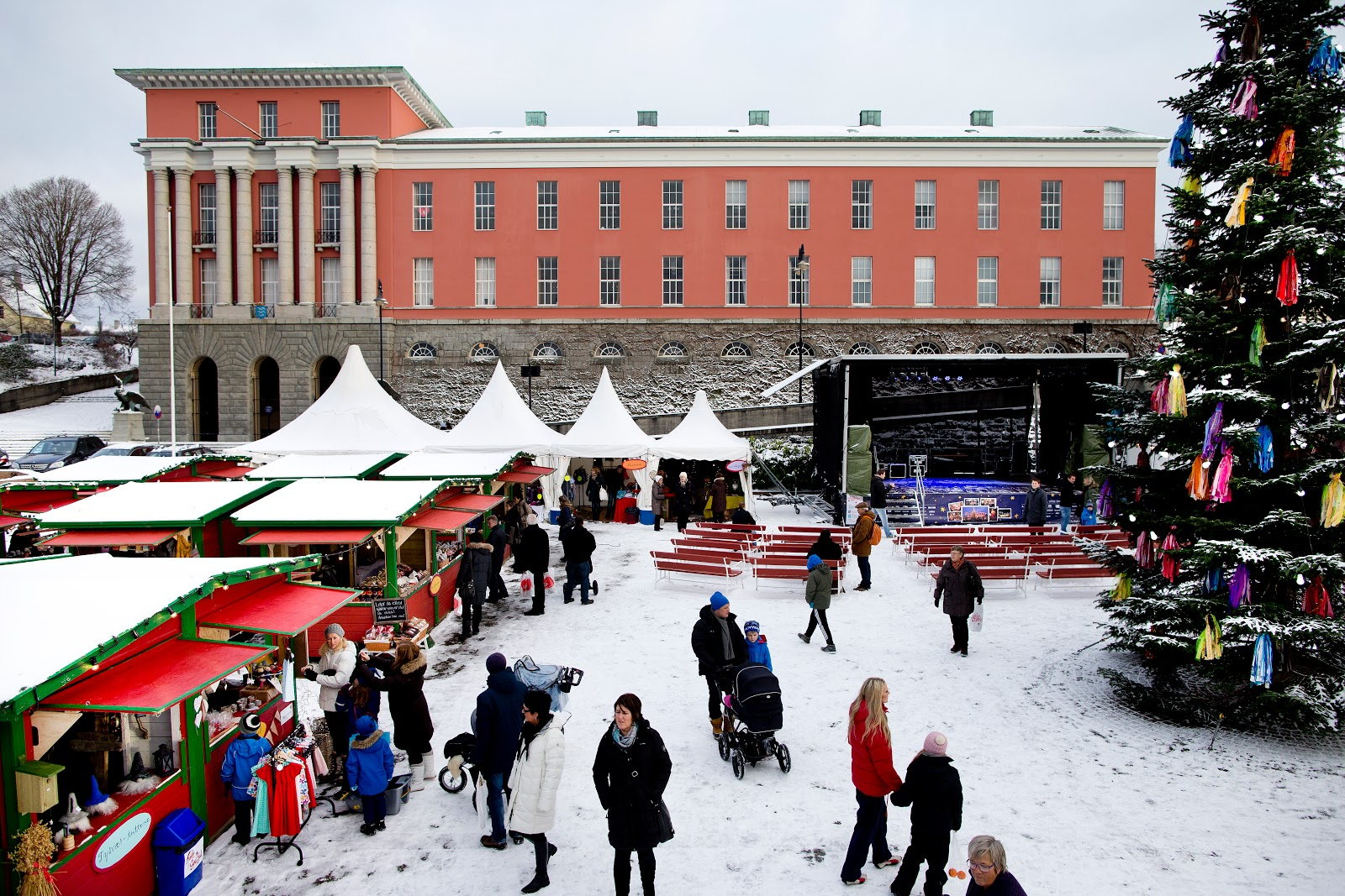 Christmas at the City Hall in Haugesund, Norway. Photo: Haakon Nordvik.