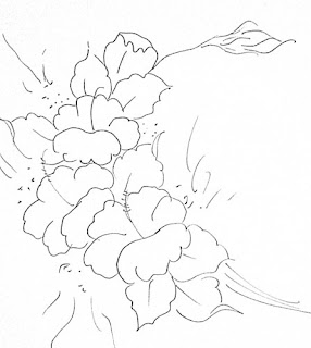 composição de hibiscos para pintar
