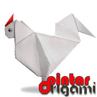 Cara Membuat Origami Ayam Jago