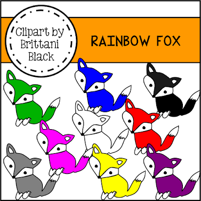 https://www.teacherspayteachers.com/Product/Rainbow-Fox-Clipart-2241503