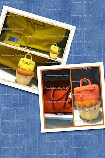 cups+bolsinhas Miniaturas famosas nos Baby cakes da Confeitaria!!