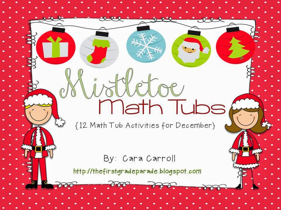 Kindergarten Mistletoe Math Tubs