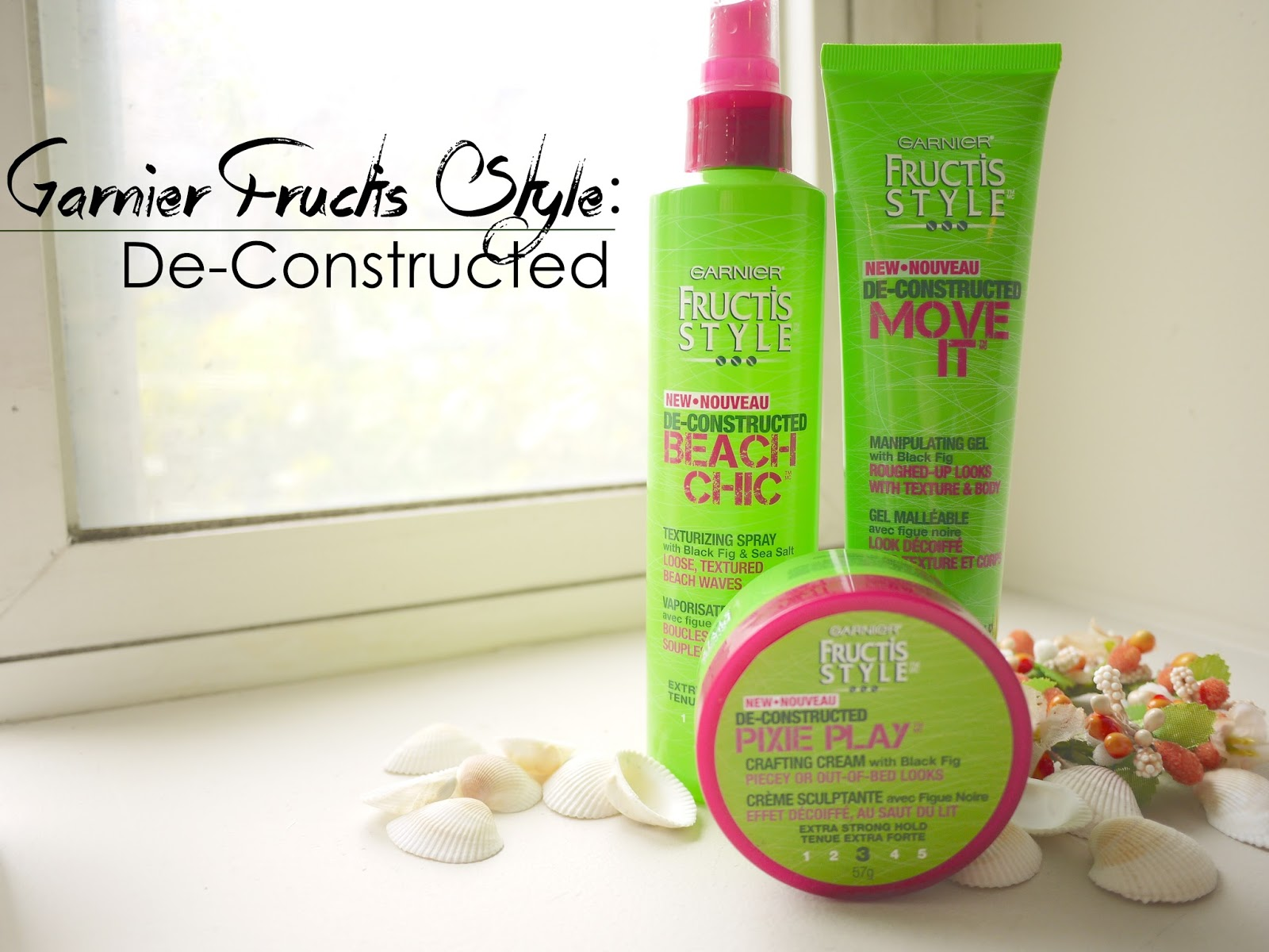 garnier deconstructed beach chic hair spray pixie play creme move it gel review