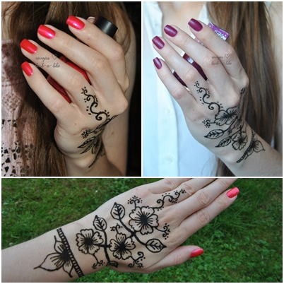 leichte henna muster cool temporary tattoos custom. Black Bedroom Furniture Sets. Home Design Ideas