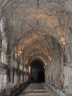 Cloisters at Gloucester Cathedral used in Hogwarts hallway scenes