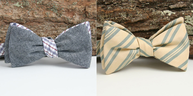 modern wedding bow ties