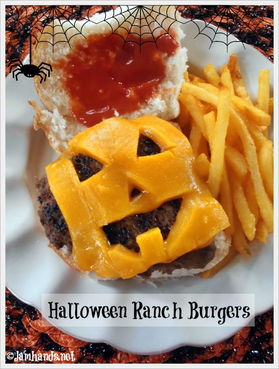 Jam Hands: Halloween Jack-O-Lantern Ranch Burgers