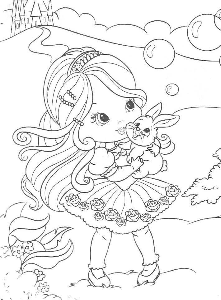 Las Princesas para Colorear: Imágenes de princesas bebes para