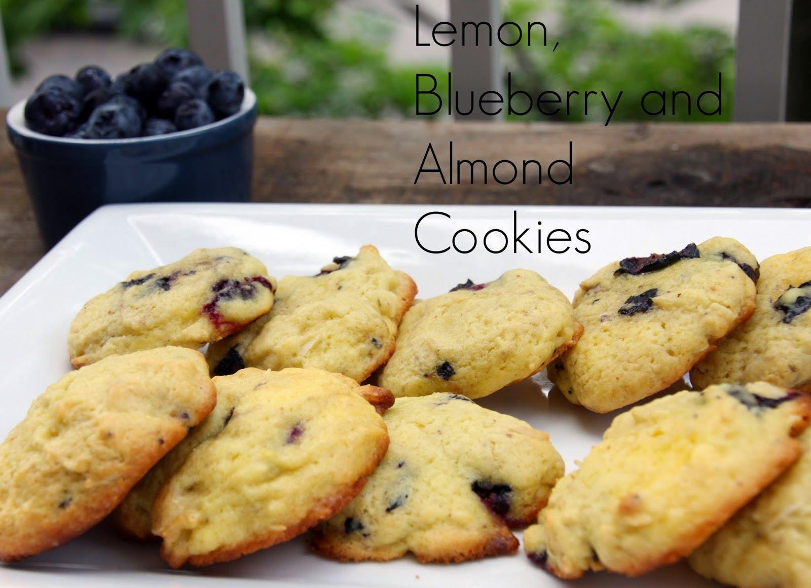 Lemon, blueberry and almond cookies