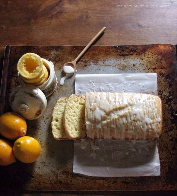 Glazed whole wheat flour meyer lemon pound cake - Cook and ...