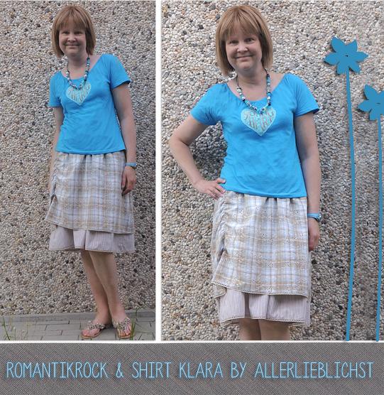 Romantikrock und Shirt Klara by Allerlieblichst