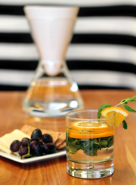 Fruit + Mint Infused Water, Three Ways // Bubby and Bean