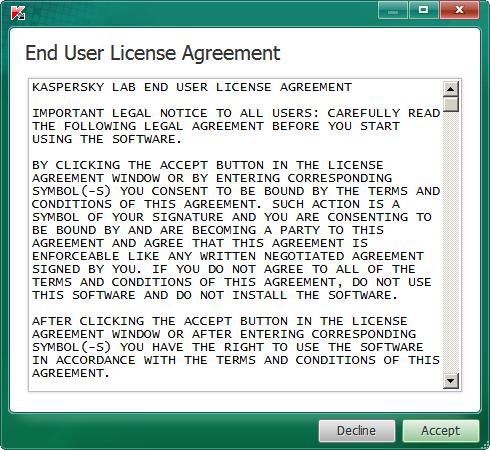 Contrato de licencia TDSSKiller
