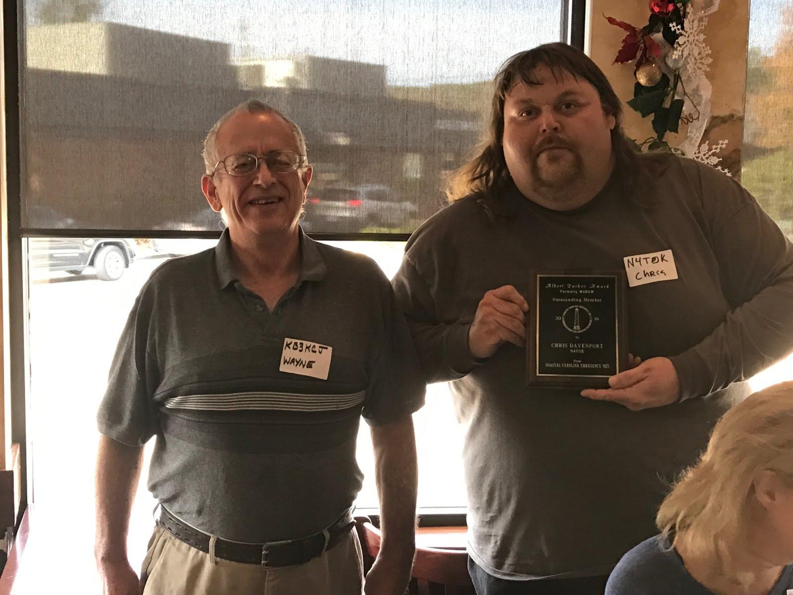 Chris Davenport N4TOK - 2016 Al Parker Award Winner
