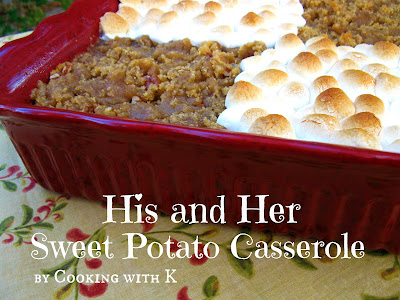 His and Her Sweet Potato Casserole