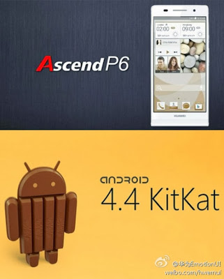 En Enero saldrá una nueva actualización a Android 4.4 KitKat para el Huawei Ascend P6