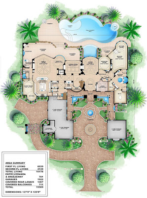 Creating Luxury House Plans in Cheap Cost   AyanaHouseluxury house plans   photos
