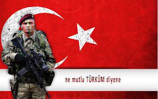 Tsk Bordo Bereli Türk Bayrağı Ne Mutlu Türküm Diyene Duvar Kağıdı