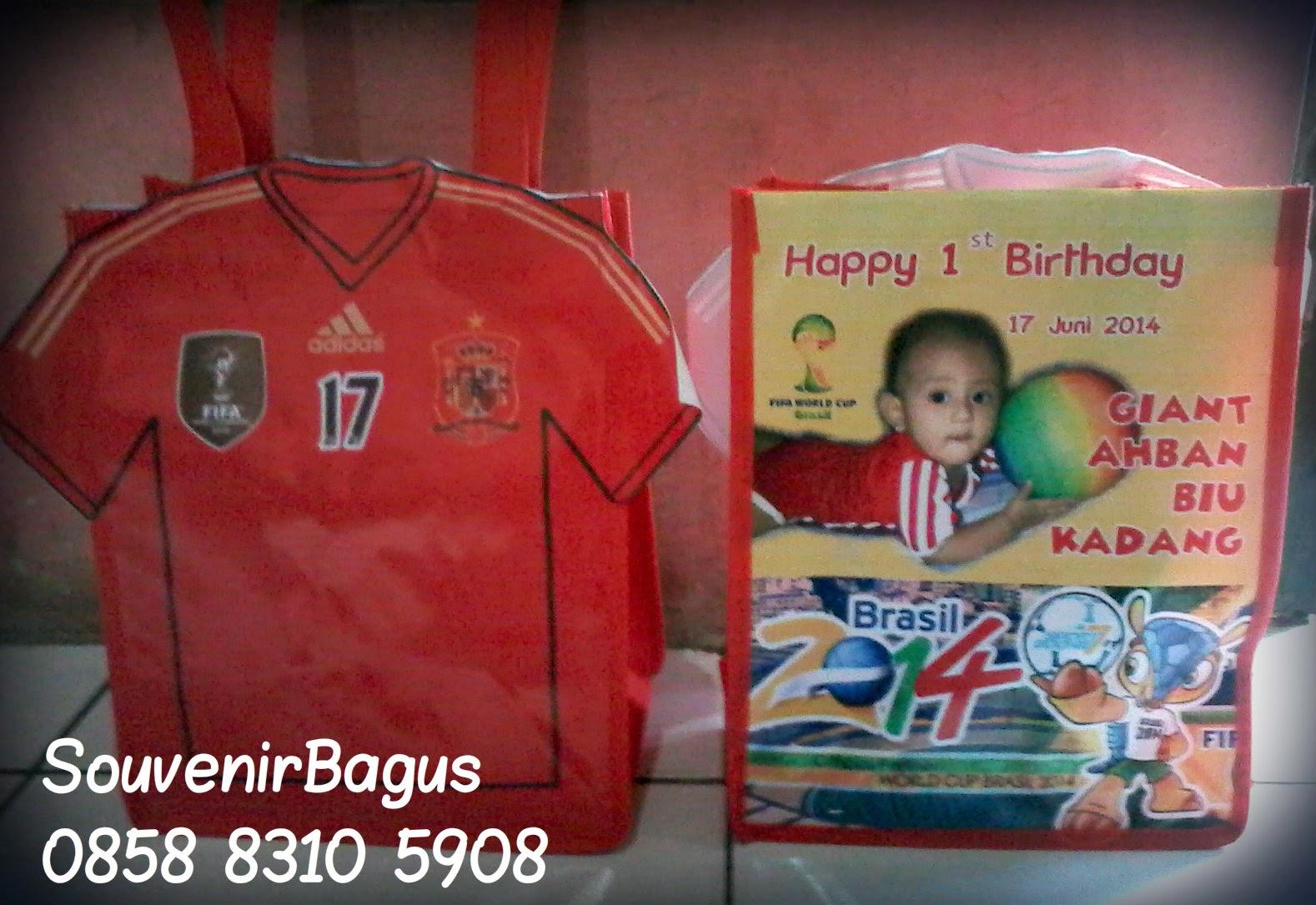 Tas Ulang Tahun Jersey Spain Piala Dunia 2014 Brazil