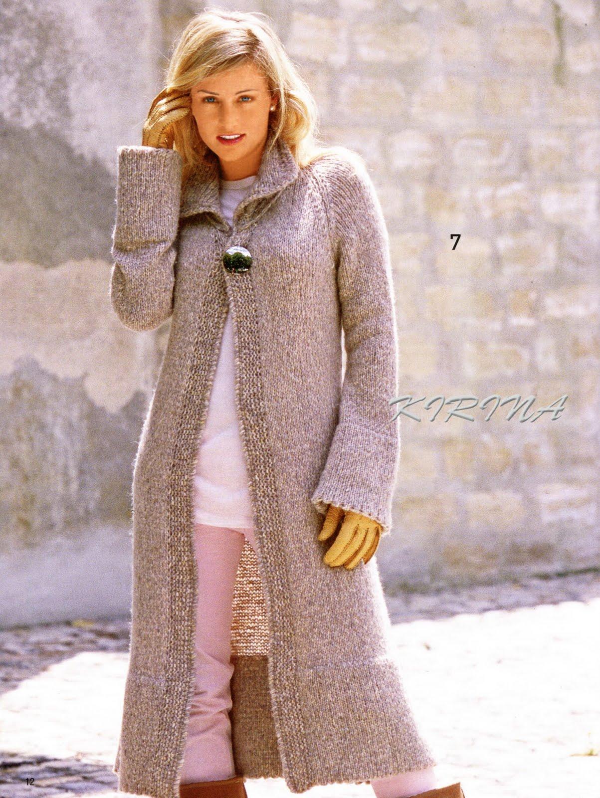 Длинные кардиганы и пальто вязание на спицах