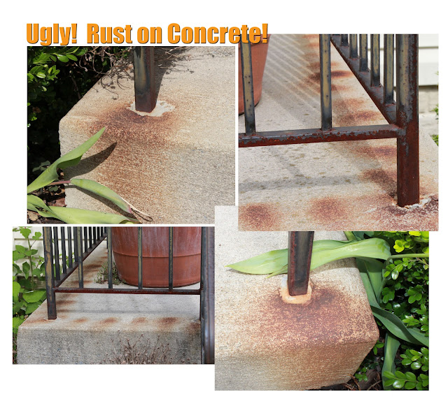 How to remove rust from concrete steps on the front of your home