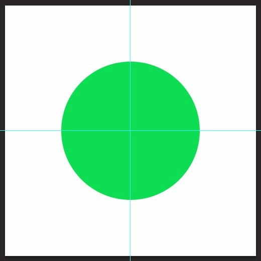 Add rulers at middle and draw circle from center