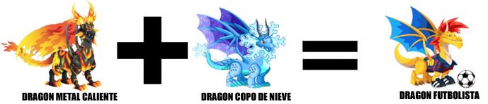 como sacar al dragon futbolista en dragon city combinacion 4