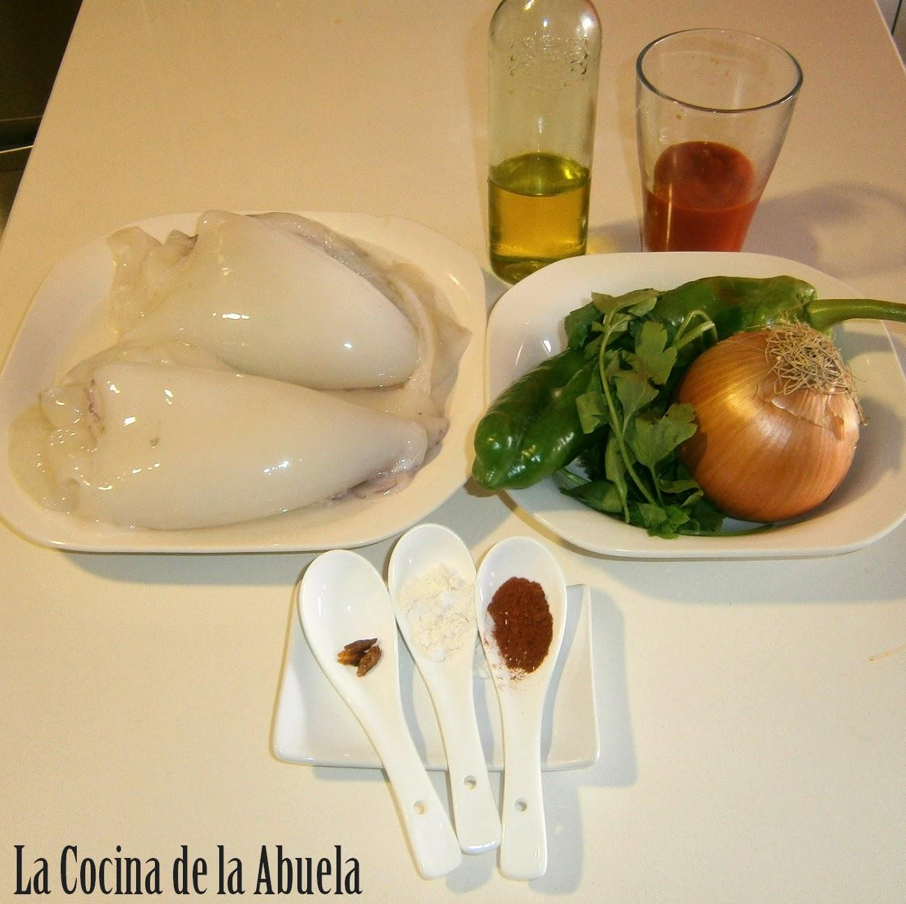 Sepia en Salsa Picante.