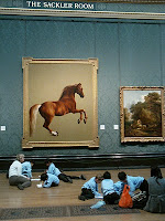 Children in front of Whistlejacket painting, London National Gallery