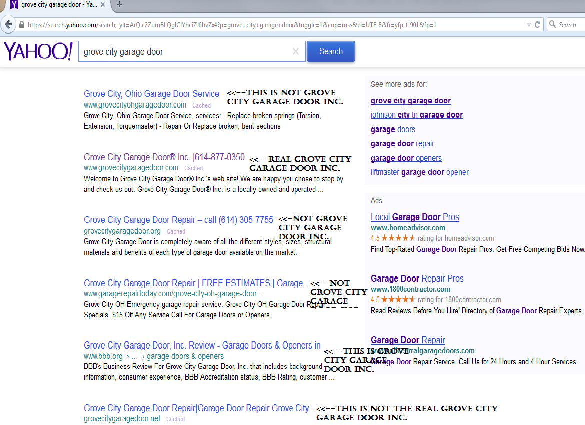 Examples Of Competitors On Yahoo