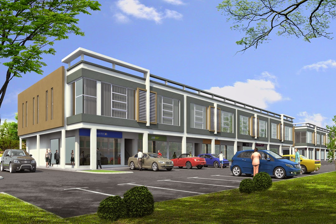 The 2 storey shophouse image design nyoke house design for Household design company