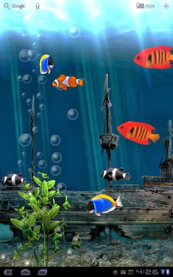 Aquarium live wallpaper v3 3 apk hygodroid for Tap tap fish light jellyfish