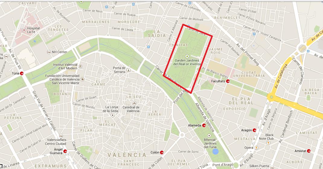 El chico del r o mapa cruising de viveros parque del for Viveros zona sur