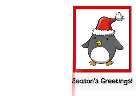 Printable christmas card seasons greetings